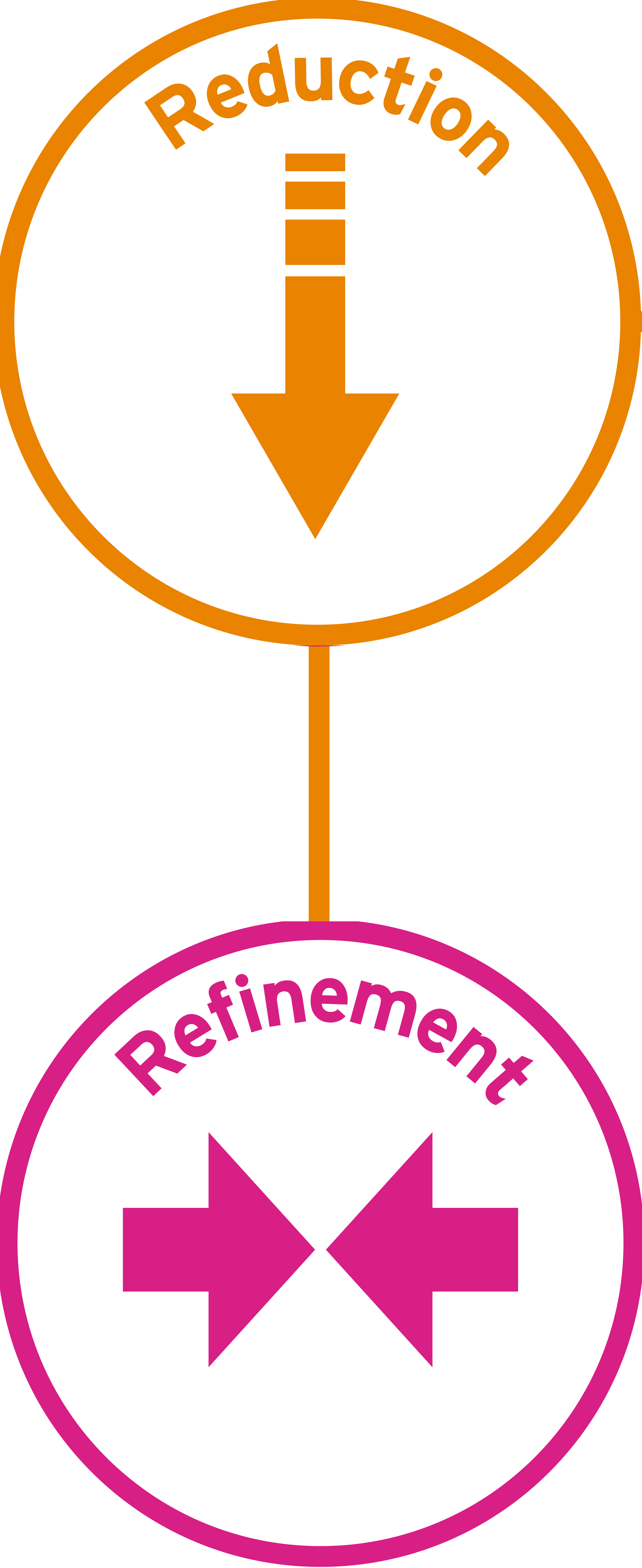 Reduction and refinement icon